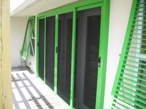 Green Crimsafe Screen & Shutters 005